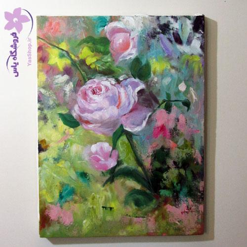 تابلو گل رز فروشگاه یاس شاپ فروش آنلاین تابلو رنگ روغن