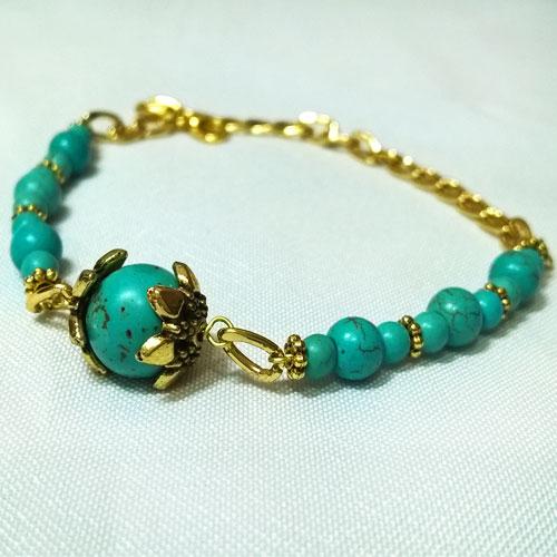 دستبند فیروزه نگین دار - فروشگاه یاس شاپ