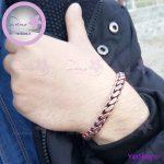 دستبند مسی بافت مدل متوسط