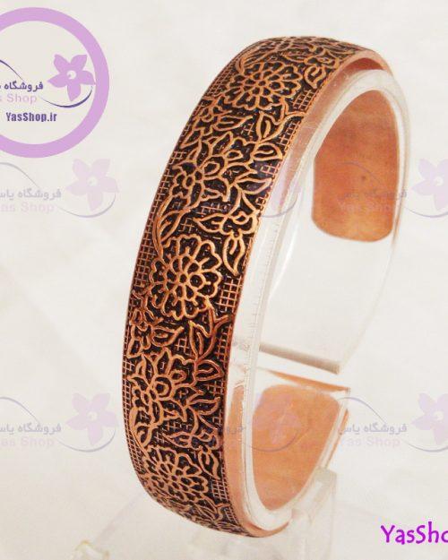 دستبند دخترانه مسی نقش گل بوته مدل ۲ دستبند مسی دخترانه دستبند ایرانی زیورآلات مسی اصفهان