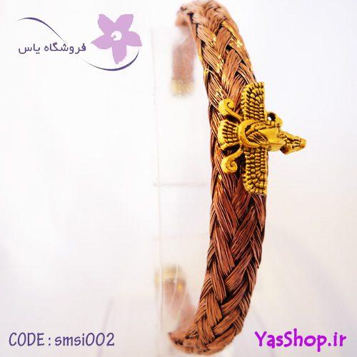 دستبند مسی بافت سیمی مدل ۲
