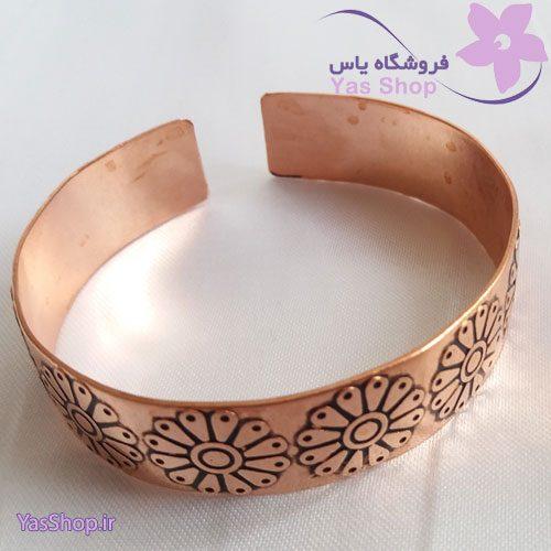 دستبند-مسی-طرح-لوتوس۳-code-031023
