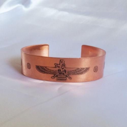 دستبند مسی فروهر - دستبند مسی باستانی
