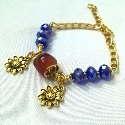 دستبند گل آفتاب مدل ۱