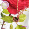 گردنبند مسی گل رز
