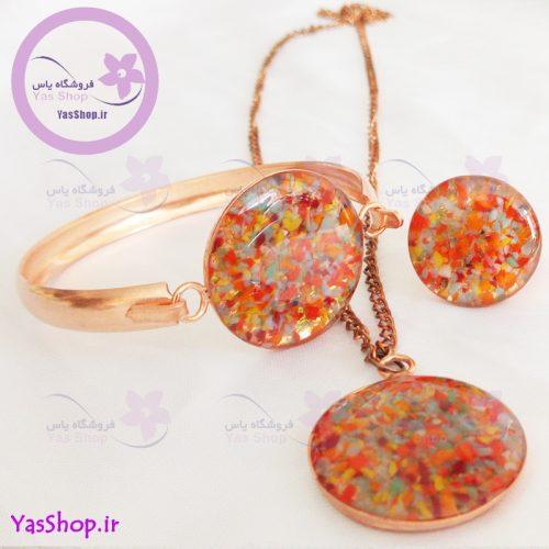 سرویس مسی مدل شنی ۷ دستبند مسی دخترانه