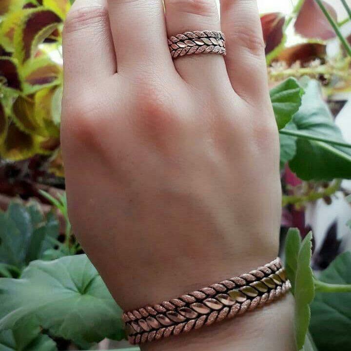رضایت مشتری از خرید دستبند مسی و انگشتر مسی مدل خوشه